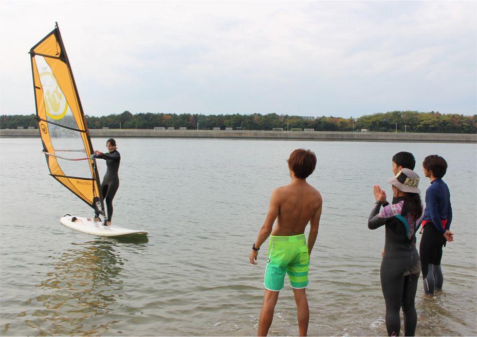 海での練習
